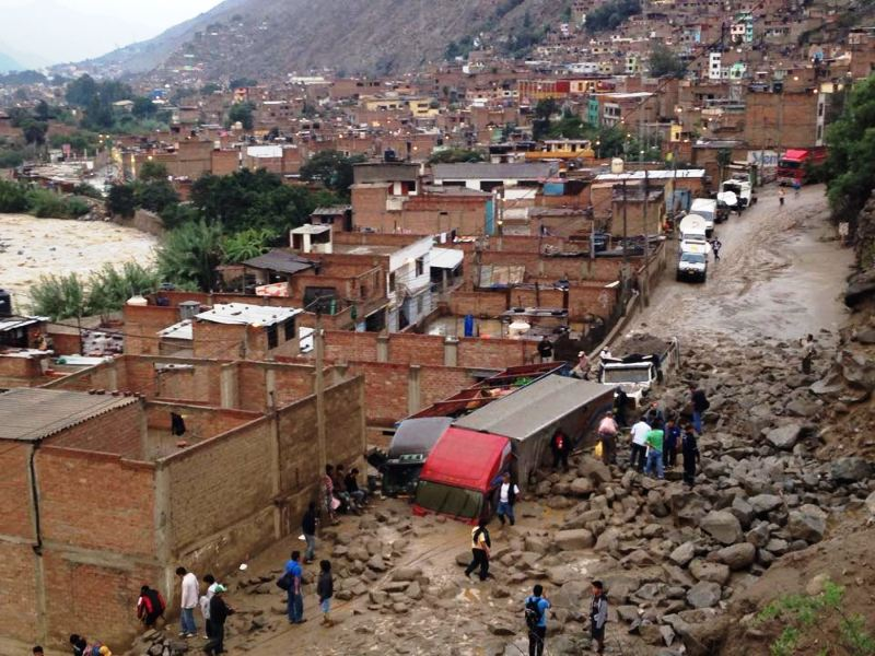 Heavy rains, landslide kill eight in highlands east of Lima