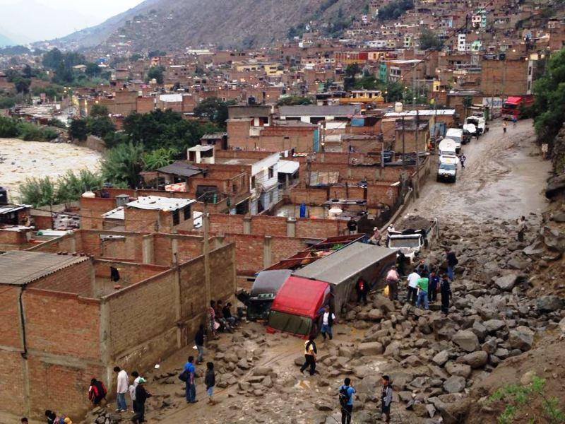 Heavy rains, landslide kill eight in highlands east of Lima