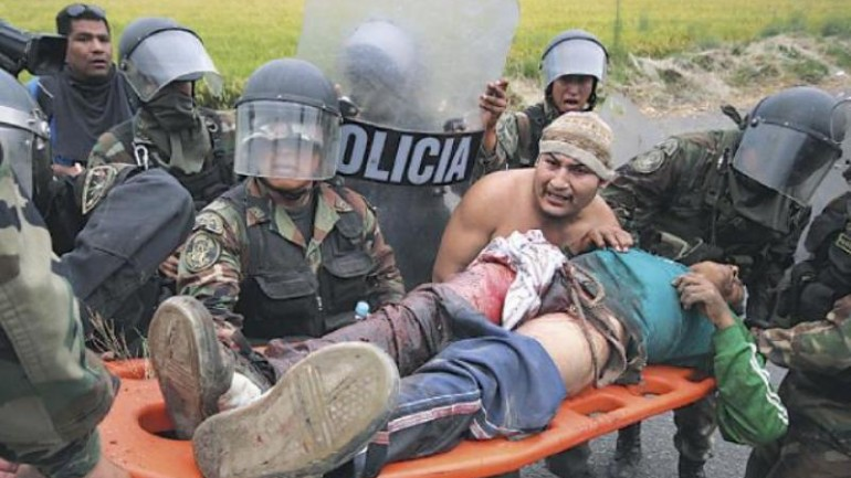 Tia Maria protester killed in Arequipa