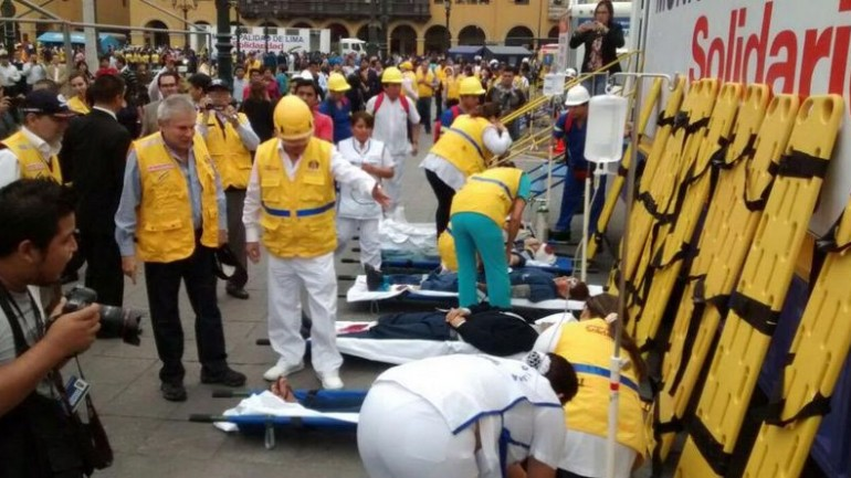 In wake of Nepal disaster, Lima leads national earthquake drill