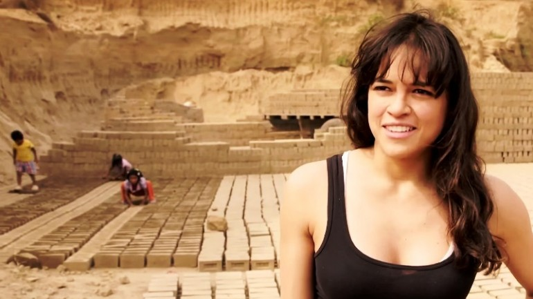 Michelle Rodriguez highlights child labor in Peru
