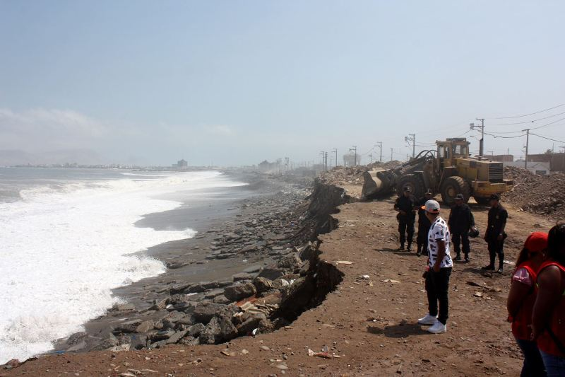 Ocean swells damage coastal regions from north to south