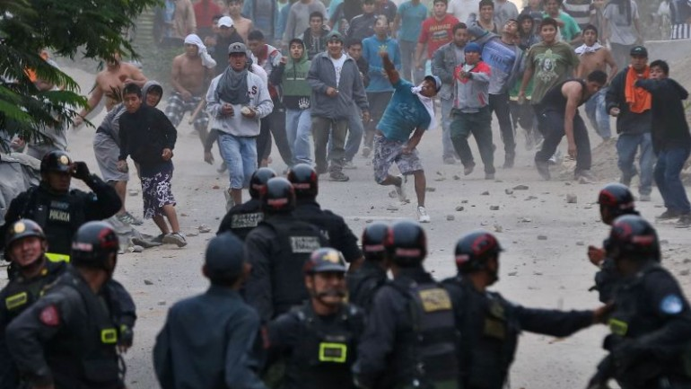 Lima police clash with squatters over cultural heritage site