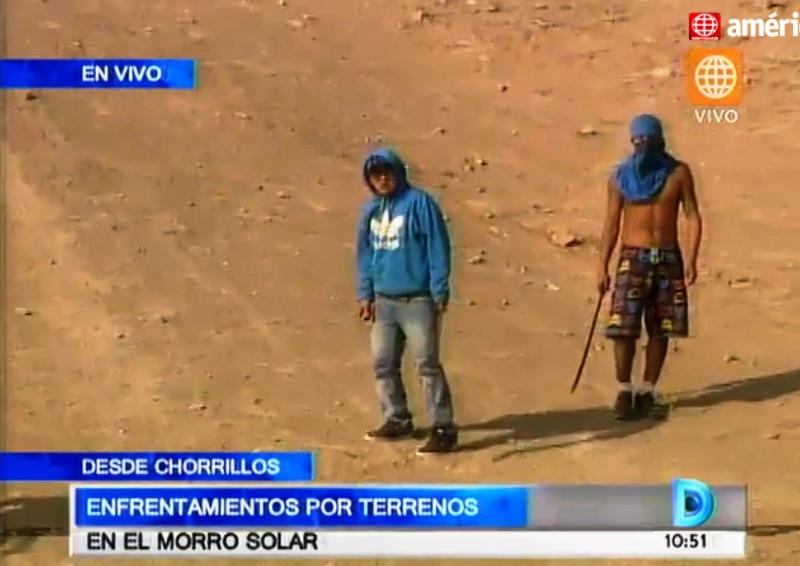 Squatter gangs battle at Morro Solar in Chorrillos