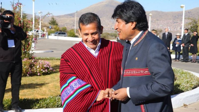 Humala and Evo Morales reach gas deal at 'bi-national cabinet'