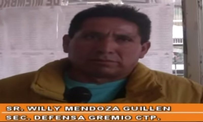 Union leader assassinated near Lima