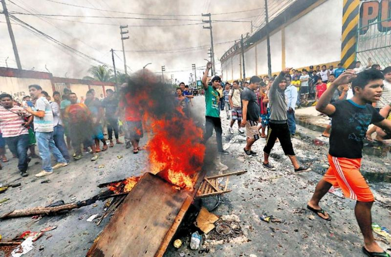 Strike 'paralyzes' Iquitos in protest of private oil license
