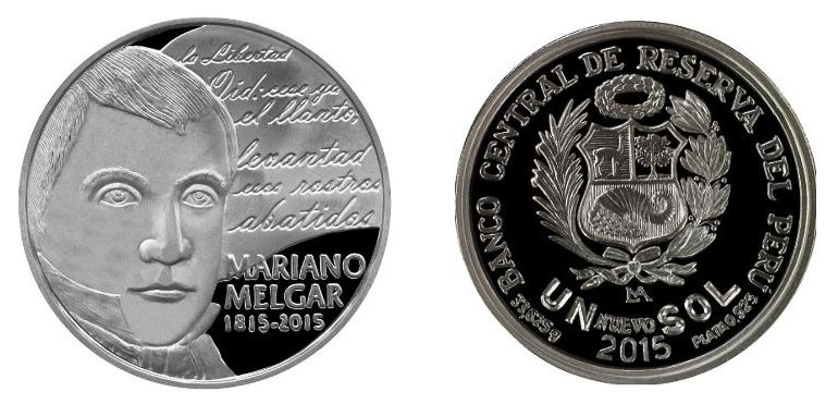 Peru issues coin commemorating poet and independence fighter