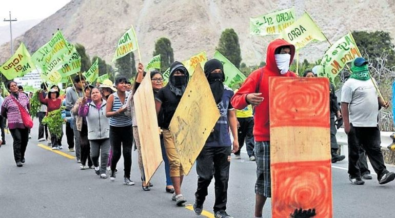 Anti-mining groups hold three-day protest in southern Peru