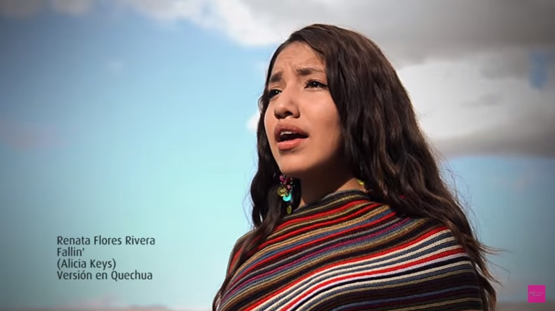 Peru singer showcases Quechua by covering English hits