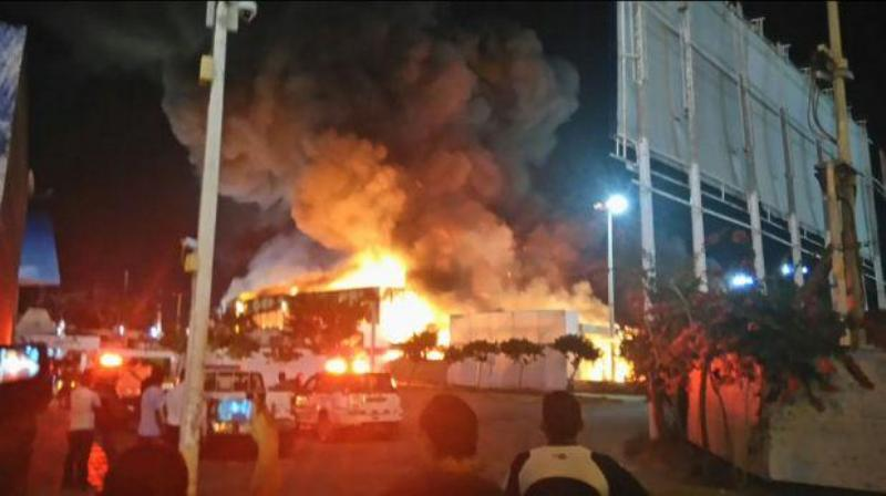 Fire in Lima beach town highlights poor water infrastructure