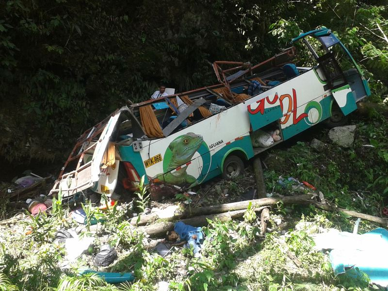 At least 17 killed in central Peru bus accident