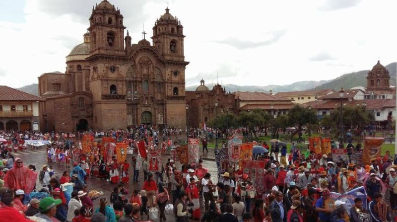 Anti-mining protesters occupy downtown Cusco