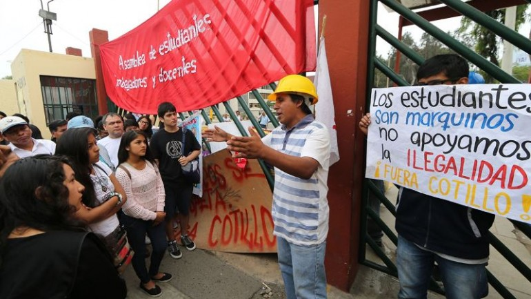 Campus clashes over Peru's university reform