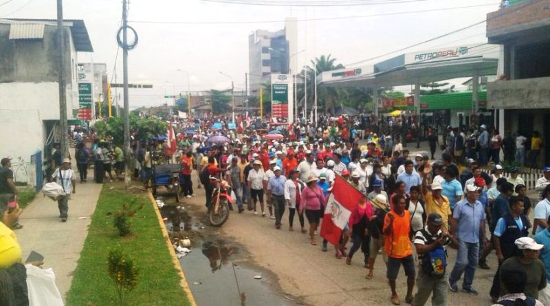 Peru jungle state sees weeklong protest over utility prices