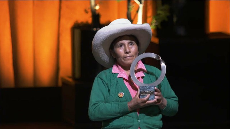Peru anti-mining activist wins Goldman Environmental Prize