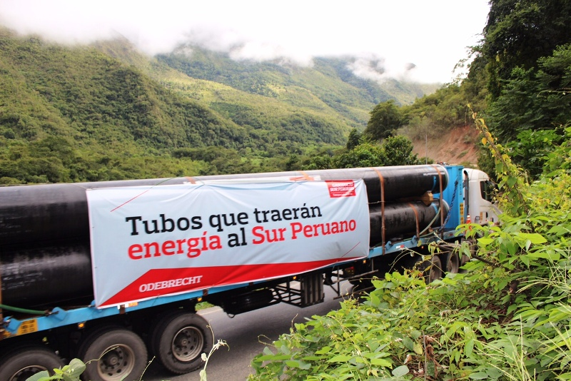 Odebrecht bows out of Peru's Southern Gas Pipeline