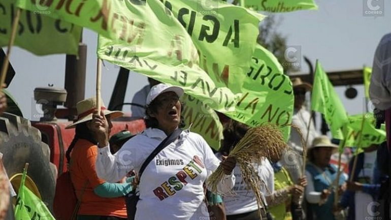 Mining protests flare up during Peru's election season