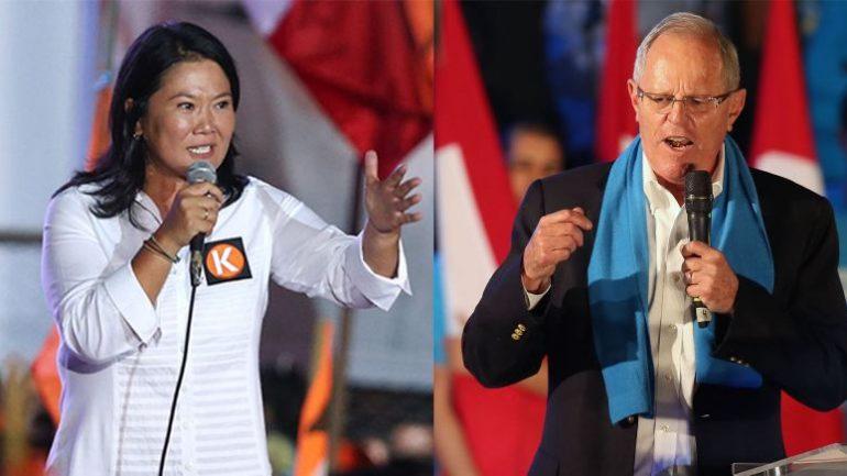 Fujimori and Kuczynski seen tied one day before Peru's election