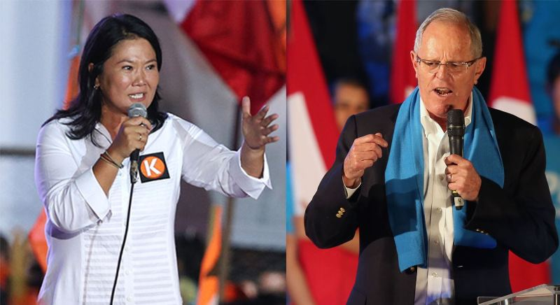 Fujimori and Kuczynski seen tied one day before Peru's election