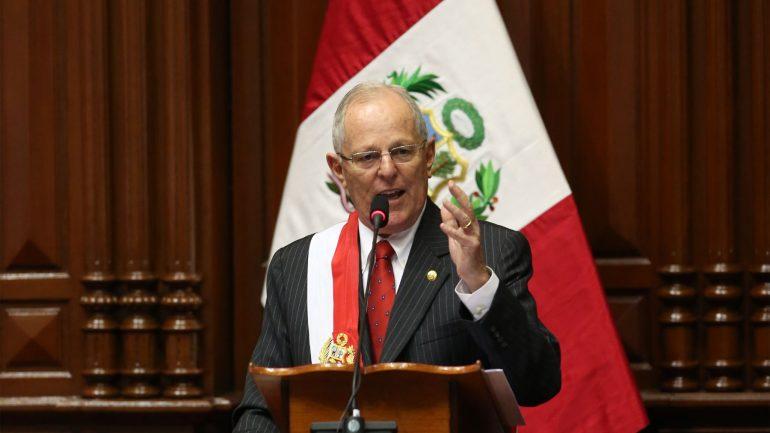 Kuczynski outlines plan for Peru in inaugural address