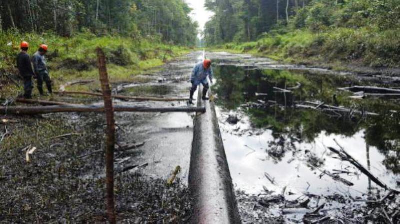 Peru state oil firm blames latest spills on vandals