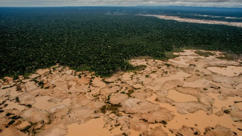 Illegal mining destroying pristine national park in Peru's Amazon