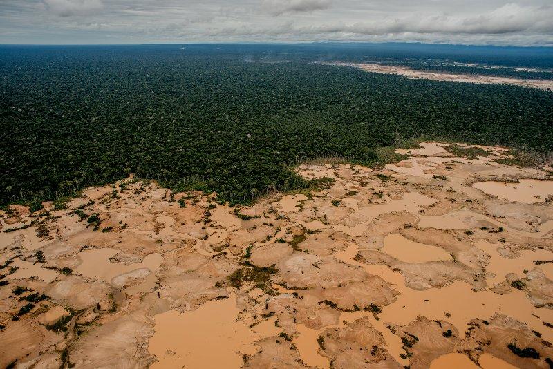 Illegal mining destroying pristine national park in Peru's Amazon