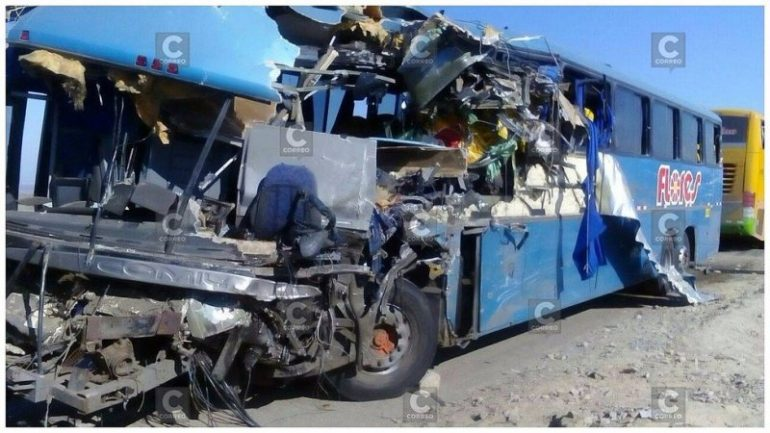 At least 17 dead as two buses crash in southern Peru