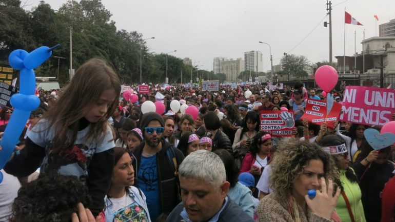 Domestic violence spikes after historic women's protest in Peru