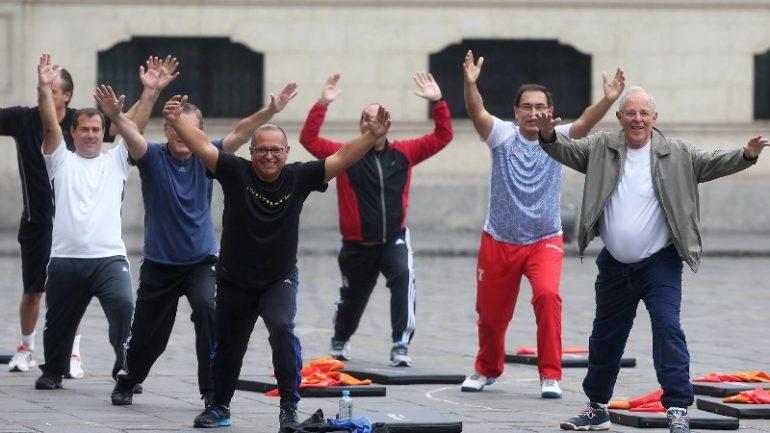 Peru President Kuczynski, Cabinet flex muscles to electro beats