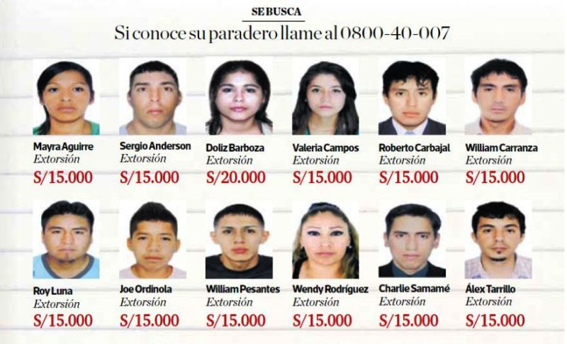 Peru's rewards scheme nets arrests of most-wanted fugitives