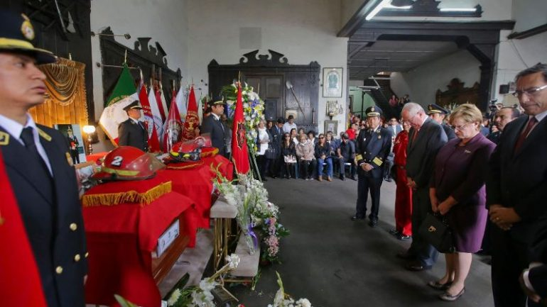 Peru mourns three firefighters killed in Lima blaze