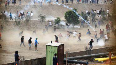 Violent protest in north Lima over highway tolls