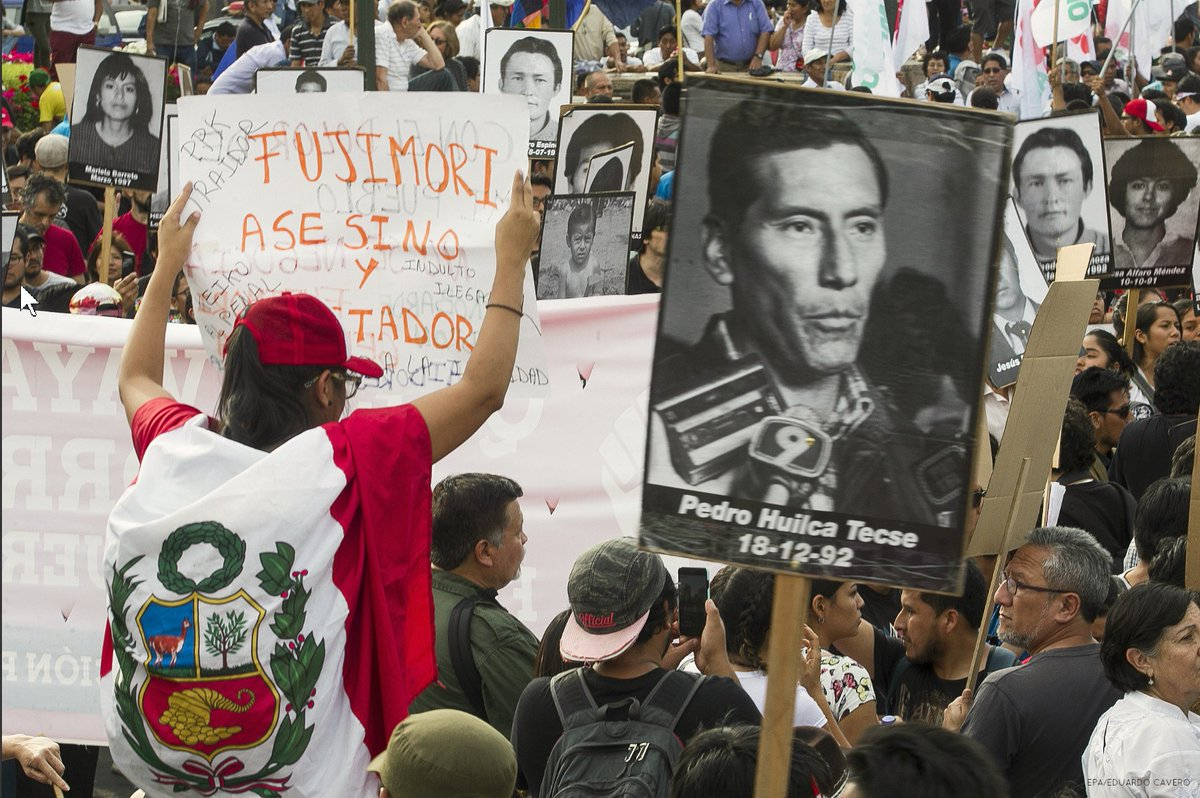 Fierce protests in Lima continue following pardoning of former president Fujimori