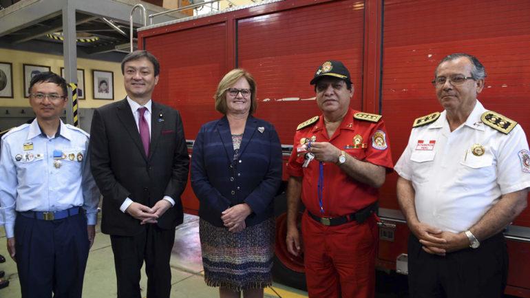 Peru's volunteer firefighters receive generous donation from Japan