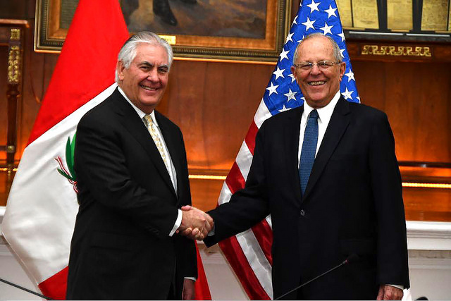 Rex Tillerson's fine balancing act in Peru