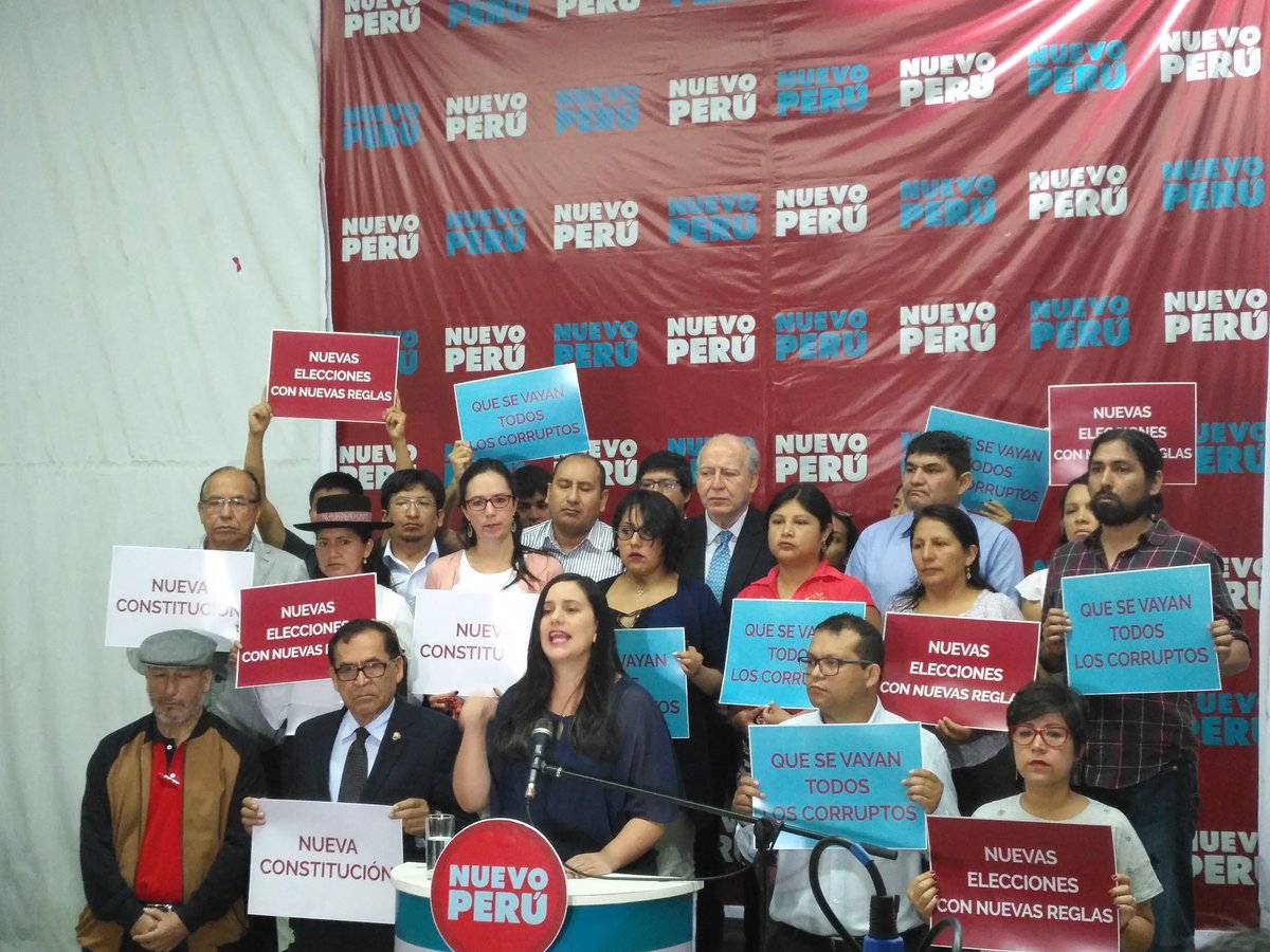 New Peru party leader asks Martín Vizcarra to hold special elections for presidency