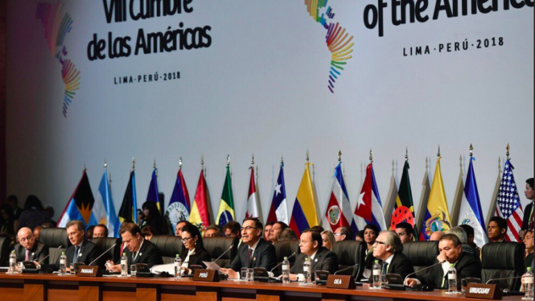 "Americas Summit: regional heads promise ""zero tolerance"" against corruption"