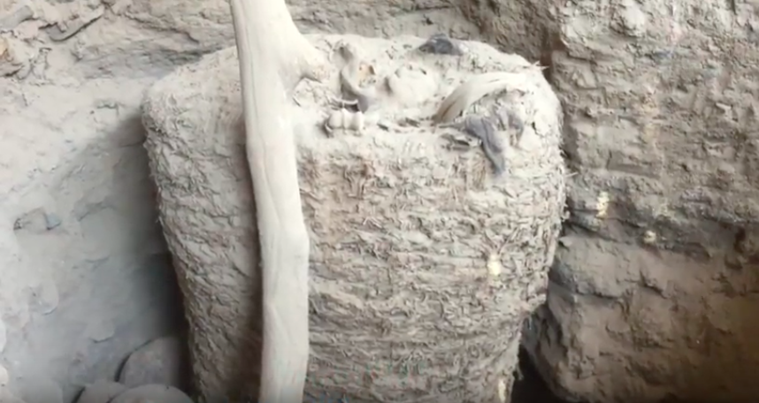 Thousand-year-old mummy dug up intact in Peru