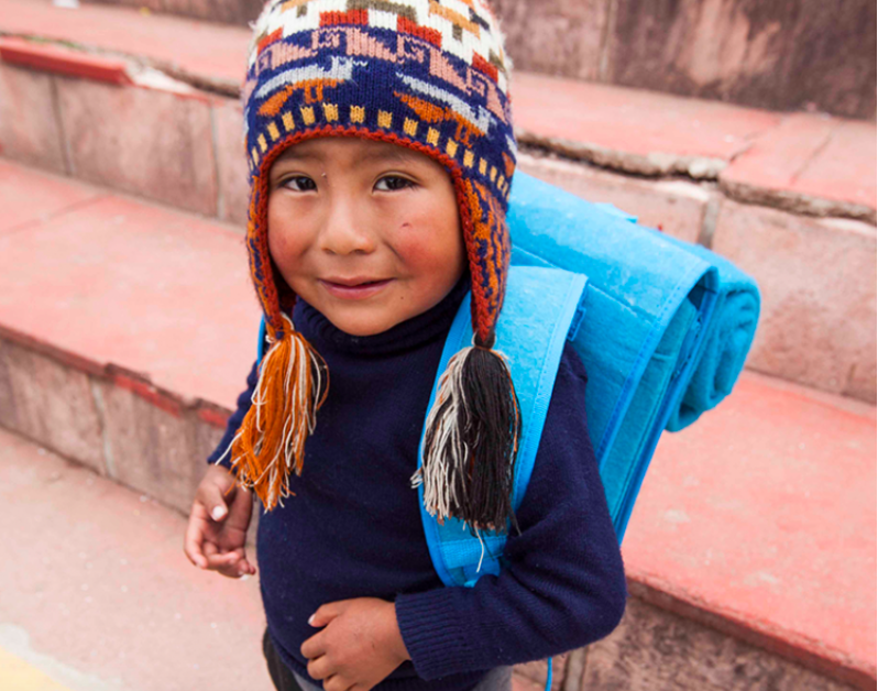 peru backpack ponchos