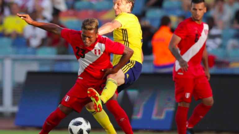 Peru plays even with home-side Sweden in final dress rehearsal before World Cup