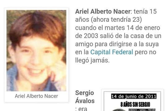 An Argentine went missing in 2003 and was found in Lima 15