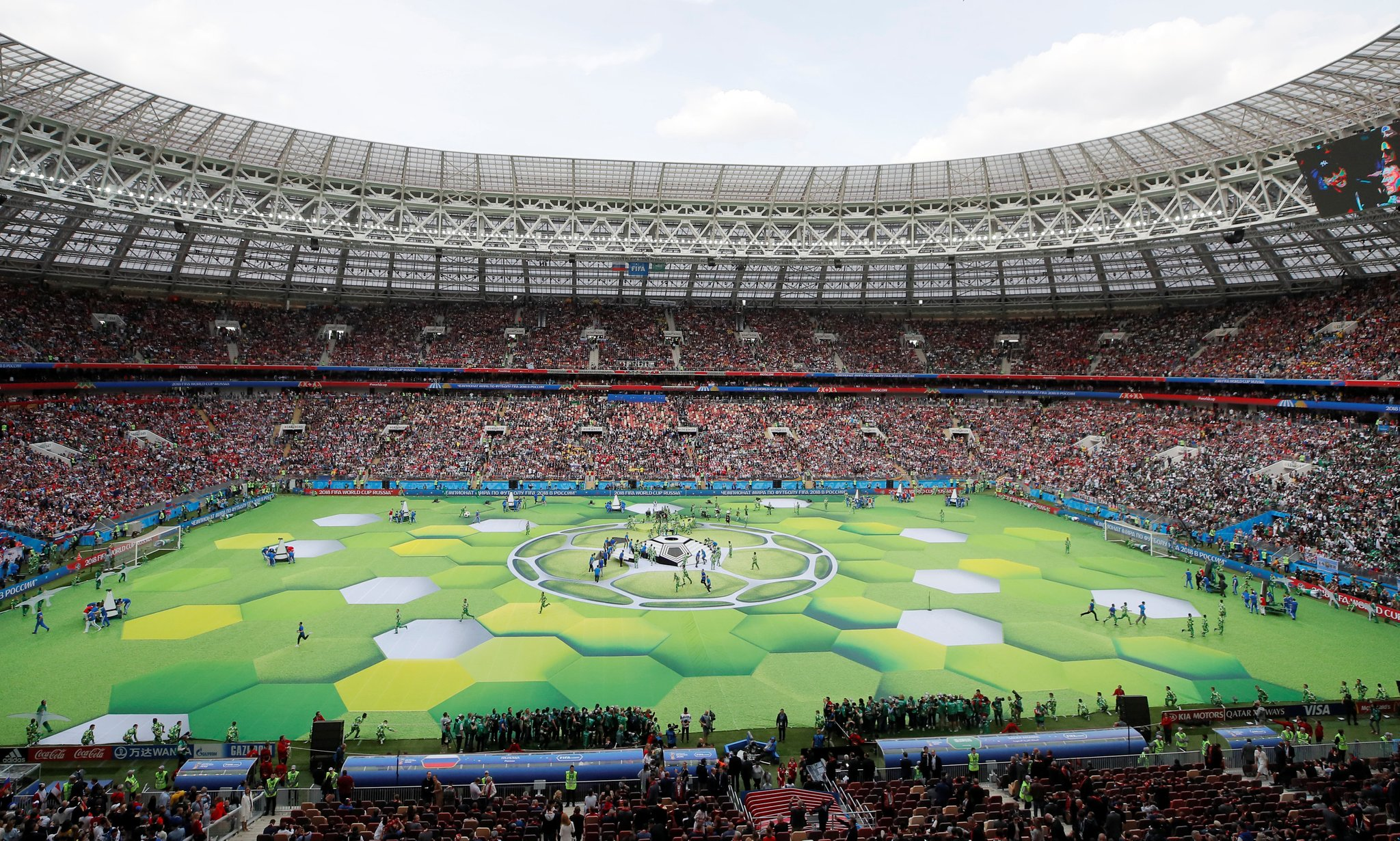 What happened in the World Cup opening ceremony 2018