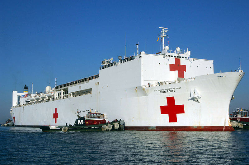 US medical ship Comfort arrives in Peru
