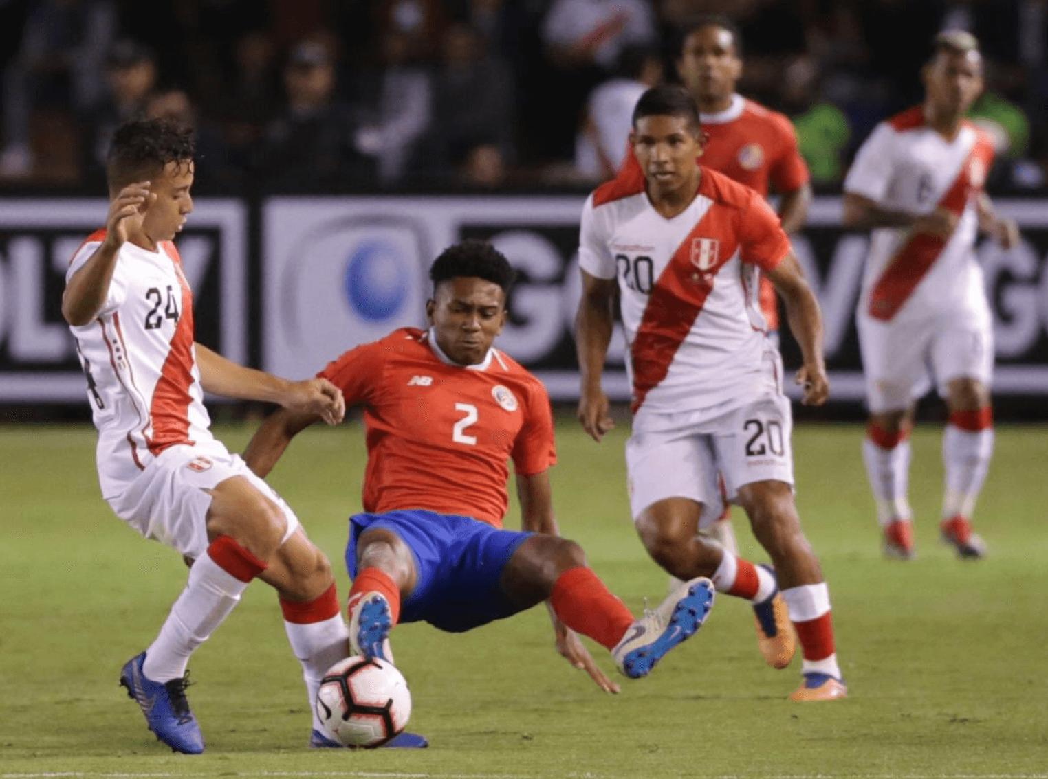 Peru comes up short to Costa Rica 3-2